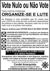 Cartaz Voto Nulo